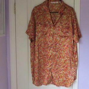 Victoria's Secret floral silk night shirt